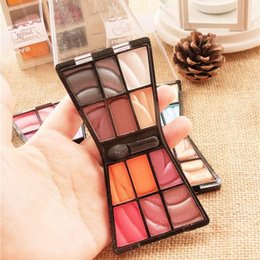 eye shadow 12 Australia - Professional Cosmetic Makeup Palette 12 Colors Shimmer Eye Shadow With Brush Beautiful Pressed Eyeshadow Powder Smoking Eyes Party Makeup