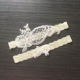 lace feet sexy 2019 - 2019 Lace Bridal Garters Wedding Accessories Sexy Lingerie Elastic Legs Foot Ring Loops Laciness Lace Appliques Garter B