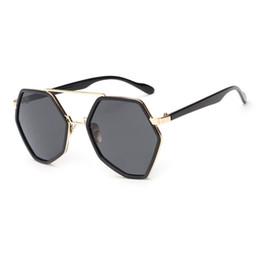 New Fashion Female Sunglasses Canada - New Design 2017 fashion sunglasses summer travel essential female polygon sunglasses minimalist design brand Metal sunglasses woman