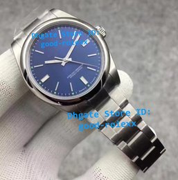 Robes Lumineuses Pas Cher-JF Factory Mens Watch Automatic 39mm Montres-bracelets Domed Bezel Men Blue Dial Cal 3132 Robe Full Steel Eta Luminous No Date Montres 114300