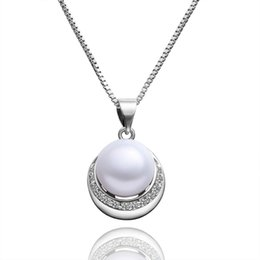 "$enCountryForm.capitalKeyWord UK - Women Necklace Simulated Pearl Jewlery Vintage Statement Collar Lady Elegant Jewelry Gift with 18'' Rolo ""o"" Chain Beautiful Gift Wholesale"
