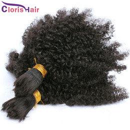kinky hair for braiding Australia - Peruvian Afro Kinky Curly Bulk Braiding Hair For Wholesale 100% Human Bulk Curly Hair Extensions No Attachment Hair Mink Bundles