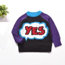 $enCountryForm.capitalKeyWord Canada - New Fashion Children Cotton Long-Sleeve Girls Sweater Knit Letter Cotton Unisex Kid Tops Bloueses Cute Pattern Boys Sweater 2-6T