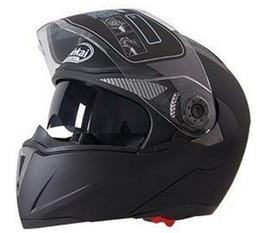 Discount jiekai lens - Wholesale- NEW Genuine JIEKAI motorcycle helmets dual lens visors flip up motocross helmets warm windproof sand dust pro