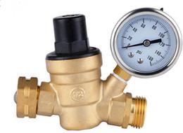 "Control Valves Types UK - High quality 2 way 3 4"" DN20 Brass Pressure regulating valve, 2 way through way type 1.6mpa manual operation pressure regulating valve"