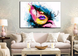 $enCountryForm.capitalKeyWord Canada - Framed Sexy Women Face,Pure Hand Painted Modern Fashion Decor Abstract Art Oil Painting On Canvas.Multi sizes,Free Shipping