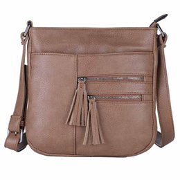 China Wholesale- New Arrival Women Bag PU Leather Handbags Shoulder Bag Ladies Crossbody Bags Black Brown bolsa sac a main femme Messenger Bag cheap cross shoulder cell phone bags suppliers