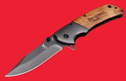 Discount very sharp knives - Browning 354 EDC Pocket Knife 440 Very Sharp Wood Handle Tactical Cutting Tools Camping Utility Outdoor Gear Knife B463L