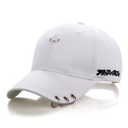 45ebb44ae2f6f Fashion 3 Colors Baseball Cap Unisex Solid Ring Safety Pin Curved Hats  Baseball Cap Men Women Snapback Caps Casquette Gorras