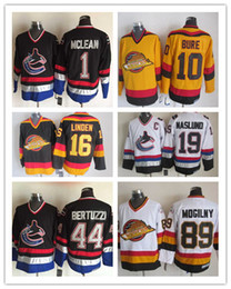 962cad01b Throwback CCM Jersey - Black Vancouver Canucks Vintage Heathered Jersey  Mens 1 Kirk .