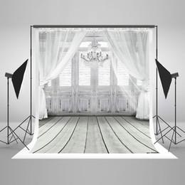 $enCountryForm.capitalKeyWord Canada - 5x7ft(150x220cm) White Photography Background Light Gray Wood Floor Backdrop White Curtain Studio Backdrops for Wedding