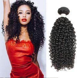 Natural humaN hair afro pieces online shopping - Brazilian Jerry Curly Hair Extensions Bundles Afro Style Natural Brown Peruvian Mongolian Raw Indian Virgin Human Hair Weave Bundles