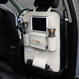 $enCountryForm.capitalKeyWord Canada - White PU Multi-Pocket Car Seat Organizer Holder Travel Storage Bag Back Seat Organizer For ipad