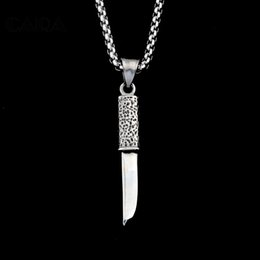 $enCountryForm.capitalKeyWord Canada - New Vintage JEWELRY 316 Stainless Steel Necklaces & Pendants Personalized Attractive Knife Shape Men Jewelry HOT SALE CAGF0091