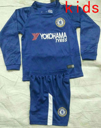 TOP QUALITY 17 18 Chelsea kids home soccer jersey Long sleeve HAZARD MORATA HAZARD  PEDRO KANTE DIEGO COSTA WILLIAN DAVID LUIZ football shirt ... e6864add4