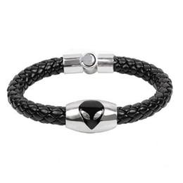 Men titaniuM Magnetic bracelet online shopping - Titanium Stainless Steel Magnetic Clasp Leather Bracelet Wristband Women Men Charm Bracelets Jewelry Cat Eye Trend Jewelry