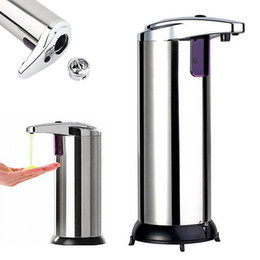 Wholesale Sensor Soap Dispenser Stainless Steel Automatic Hands Free Wash Machine Portable Motion Activated w Stand