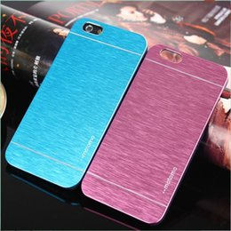 $enCountryForm.capitalKeyWord Australia - MOTOMO Ultrathin Brushed Metal Aluminium Alloy + Hard PC Back Case For iPhone 6 7 Plus Samsung S7 edge Cover Slim Protector Skin Shell