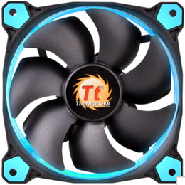 Wholesale ThermalTake 12cm fan Riing 120 LED BLUE GREEN ORANGE RED WHITE YELLOW for computer case