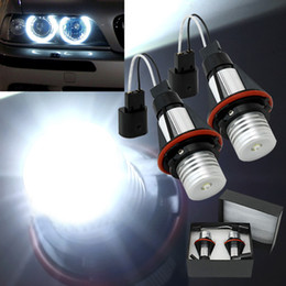 angel eyes bulbs 2018 - 7000k LED Angle Eyes Halo Xenon Marker Ring Light Bulb Canbus For BMW E39 E53 E60 E61 E63 E64 E65 E66 X5 cheap angel eye