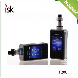 Discount box mod touch - Wholesale- 2016 Newest 100% Original Sigelei T200 2.4 Touch Screen ,APP Bluetooth Connection Max Power 200W TC Box Mod N