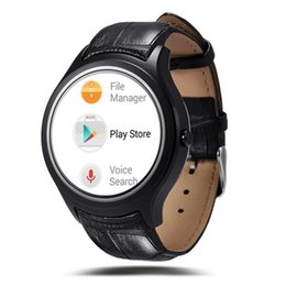 waterproof 3g smart phone watch Canada - X1 Smart watch phone Wearable Devices with 3G SIM heart rate bluetooth GPS Wifi stainless steel leather band wristwatch for IOS and Android