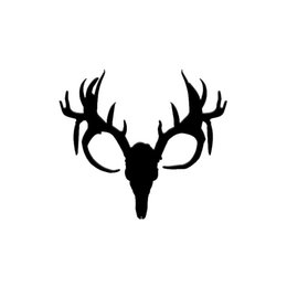 Hunting Decals Stickers NZ - Deer Skull Hunting Decal Vinyl Sticker Car Window Truck