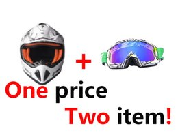 Full Atv Canada - RIALLI Helmet & Goggles set Full Face Motorbike Motorcycle Street Bike Helmet + Motocross Motorcycle ATV Dirt Bike Off Road Adult Goggles