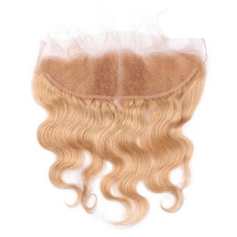 $enCountryForm.capitalKeyWord UK - Brazilian Human Hair Lace Frontal Pre Plucked Ear To Ear Lace Frontal Closure Body Wave Malaysian Virgin Hair 1pc Free Shipping by DHL