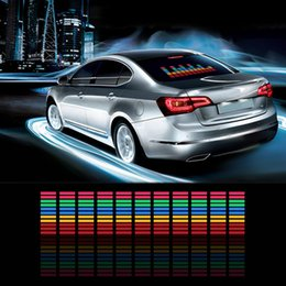 China Car Sticker Music Rhythm LED Flashing Lights Lamp Sound Activated Equalizer supplier car led equalizer sticker suppliers