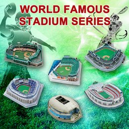 Red Sox Wholesale Pas Cher-MLB Yankees NYY Chicago Cubs Boston Red Sox San Francisco Giants Cowboys football américain ballon rugby baseball 3D Puzzle Stade