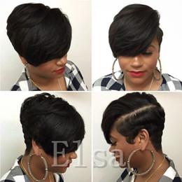 Corte corto ninguna pelucas del bob humano del cordón la mejor peluca barata brasileña humana con las pelucas glueless del pelo del bebé con el flequillo para las mujeres negras en venta