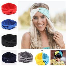 Gemstone aGate online shopping - Hot Sales New Colors Solid Twist Sport Fashion Yoga Stretch Headbands Women Turban Bandana Head wrap Hair Accessories LC441