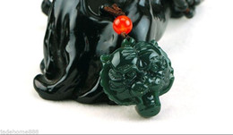 Jade tiger pendant nz buy new jade tiger pendant online from chinese 100 natural nephrite hetian jade tiger head lucky jade pendant necklace mozeypictures Images