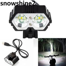 $enCountryForm.capitalKeyWord NZ - Wholesale- snowshine2#2001 bike light 6000LM 2 X CREE XM-L T6 LED USB Waterproof Lamp Bike Bicycle Headlight free shipping