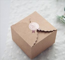 50pcs Rustic Wedding Favors Candy Boxes Packaging Snak Bags Small Kraft Gift Boxkraft Paper Cake Box Birthday Party Supplies