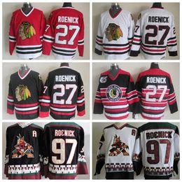 3d75bc677 ... Throwback 1992 Chicago Blackhawks Jersey 27 Jeremy Roenick Jerseys  Vintage CCM Phoenix Coyotes 97 Jeremy Roenick