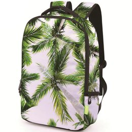 school picture UK - Cocos nucifera backpack Tropical scenery view daypack Picture schoolbag Casual rucksack Sport school bag Outdoor day pack