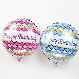 $enCountryForm.capitalKeyWord UK - 50pcs lot 2017 new arrival18inch Foil Round Balloons for Birthday Party Decoration globos Fish pattern ballons blue pink balls