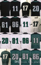 7da5a71c0 Stitched Style Blank  11 WENTZ  20 DAWKINS 17 Jeffery 81 Matthews 86 Ertz  White Black Green Mix Order Home Road Jerseys Free Drop Shipping cheap  blank blue ...