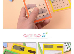 Discount solar battery calculator - 8 ultra-thin solar calculator transparent calculator touch the card without battery student environmental mini
