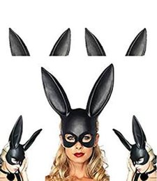 Women Animal Halloween Costume NZ - Women Girl Cosplay Rabbit Mask Masquerade Mask Bunny Mask for Birthday Party Easter Halloween Costume Accessory
