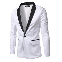Hot Pink Formal Jacket Canada - Fashion Formal Men Dress Suit Jacket Hot Sale White Black Men Tuxedo Jacket Men Tops Suit Jackets high quality