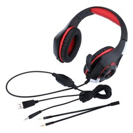 Ps4 Blue Canada - Free Shipping Beexcellent GM-1 3.5mm Game Gaming Headphone Headset guangdong Headset for PS4 PSP PC Headphone Tablet Laptop Microphone
