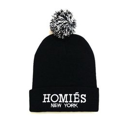 1c5b8107b70 Hot Selling New HOMIES Style Fashion Men Women Skull Beanie Hat Winter Fall Hiphop  Warm Cap