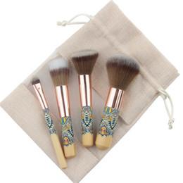 Fantasy pieces online shopping - Anmor Travel Makeup Brush Set Piece Fantasy Cosmetics Brushes Synthetic Powder Blush Eyeshadow Make Up Brushes Ch001