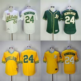... Authentic Mens Majestic Home Cool Base MLB MLB Jersey Men Oakland  Athletics Jerseys 24 Rickey Henderson Jersey Flexbase Cool Base Home Away  White Red ... e5aefe095