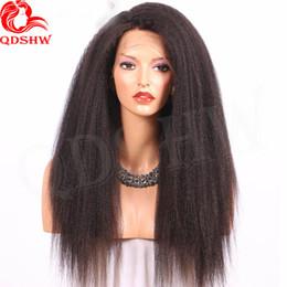 ItalIan yakI wIg brazIlIan haIr online shopping - 360 Full Lace Human Hair Wigs Pre Plucked Kinky Straight Virgin Brazilian Hair Glueless Italian Yaki Lace Frontal Human Hair Wig