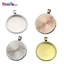 Beadsnice rodada moldura pingente de configuração de prata esterlina 925 cabochão base de 25 mm rodada moldura bandeja diy jóias de prata moldura de copos de identificação 32637