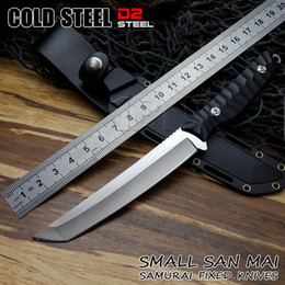 $enCountryForm.capitalKeyWord Canada - Cold steel hunting knife Samurai sword D2 blade with Fixed blade and knife lanyard hole tactical sheath Outdoor Survival knife Tools